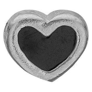 Black Enamel Heart 925 sterling sølv  Collect urskive pynt smykke fra Christina Collect
